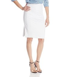 Nanette Lepore Heart Slayer Seamed Twill Pencil Skirt