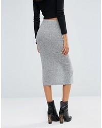 Asos Pencil Skirt In Cut Sew