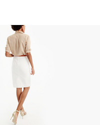 J.Crew Petite No 2 Pencil Skirt In Two Way Stretch Cotton