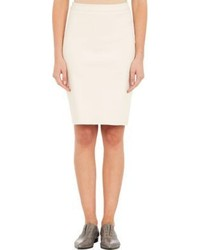 Lanvin Piqu Zip Back Pencil Skirt