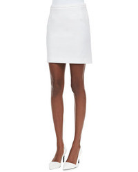 No.21 Ponte Skirt With Pleated Back White