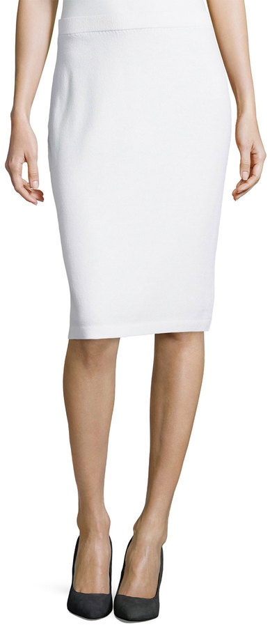 st pull on knit pencil skirt bright white where to