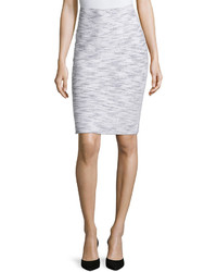 St. John Two Toned Pencil Skirt Blackbright White