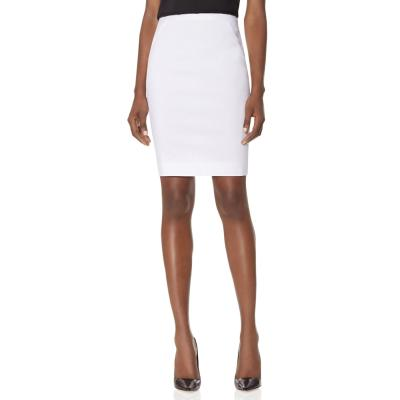 The Limited Exact Stretch Inset Waistband Pencil Skirt White 10 ...