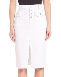 7 For All Mankind Utility Pocket Pencil Skirt With Released Hem