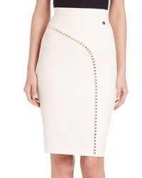 Versace Collection Studded Pencil Skirt