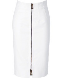 Belstaff White Cotton Harrow Pencil Skirt