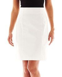 jcpenney Worthington High Waist Sateen Pencil Skirt