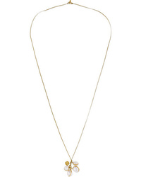 Pippa Small 18 Karat Gold Cord And Pearl Necklace