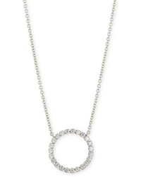 FANTASIA By Deserio Medium Cz Circle Pendant Necklace