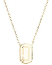 Marc Jacobs Icon Enamel Pendant Necklace