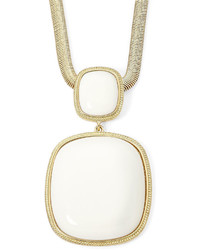 jcpenney Monet Jewelry Monet White Stone Gold Tone Square Long Pendant Necklace