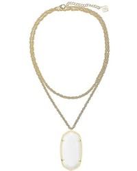 Kendra Scott R Long Filigree Pendant Necklace
