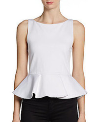 Alice olivia ponte peplum top medium 72712