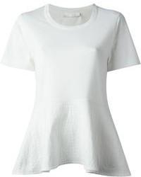 Chloé Ribbed Peplum T Shirt