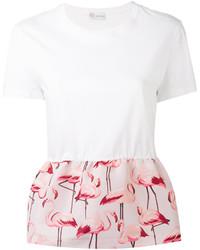 RED Valentino Flamingo Peplum Top