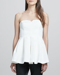 Jill strapless peplum top white medium 37516