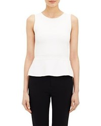 A.L.C. Lane Peplum Top White