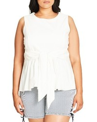 Plus size tusan peplum top medium 3655566