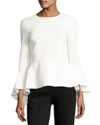 Ruby high low peplum crepe top medium 5262159