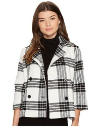 Jack by henny buffalo plaid wool like jacket coat medium 5211632