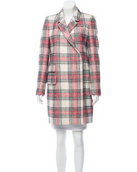 Stella McCartney Plaid Double Breasted Coat