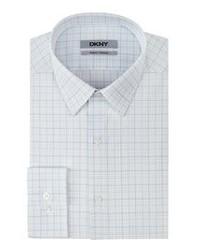 White Plaid Dress Shirt