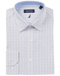 Nautica Kelson Spread Long Sleeve Classic Print Plaid Dress Shirt
