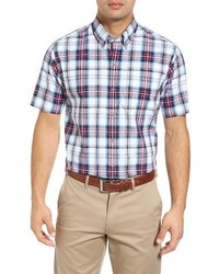 Cutter & Buck Big Tall Nicolai Regular Fit Plaid Sport Shirt