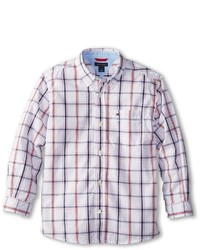 Tommy Hilfiger Kids Samuel Plaid Shirt Boys Long Sleeve Button Up