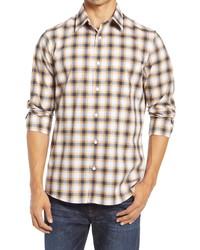 Nordstrom Men's Shop Tech  Fit Plaid Button Up Shirt