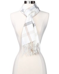 White Plaid Scarf