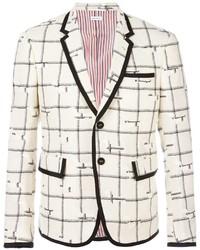 Thom browne plaid formal blazer medium 829592