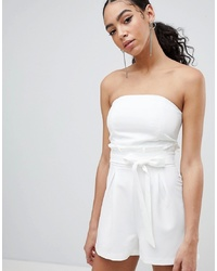 Missguided Bandeau Paperbag Playsuit
