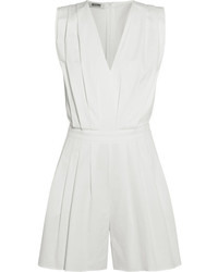 Moschino Boutique Pleated Stretch Poplin Playsuit