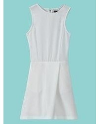 Choies White Sleeveless Zipper Back Romper Playsuit