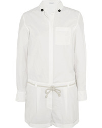 Brunello Cucinelli Cotton Blend Poplin Playsuit