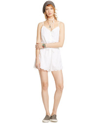 Denim & Supply Ralph Lauren Lace Trimmed Eyelet Romper
