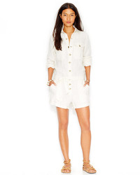 Free People Long Sleeve Linen Blend Romper