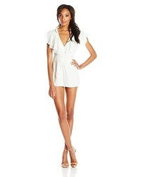 Lovers + Friends Loversfriends Cleo Flutter Sleeve Romper