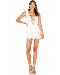 MinkPink Palace Playsuit In Ivory