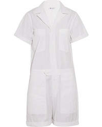 Alexander Wang T By Cotton Blend Poplin Playsuit