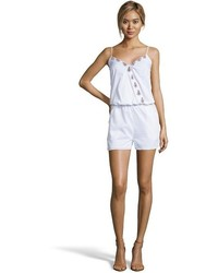 Wyatt White Cotton Embroidered Romper