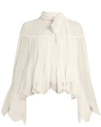 See by Chloe See By Chlo Pleated Crepe Blouse