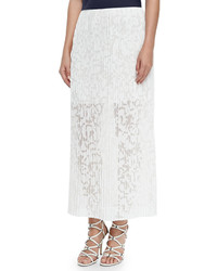 Theory Delva Pleated Burnout Maxi Skirt