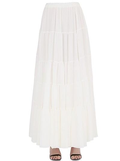 stretch silk chiffon skirt where to buy how to wear