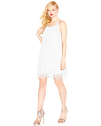 BCBGeneration Pleated Scoop Back Shift Dress