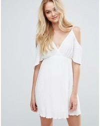 Pleated cold shoulder dress medium 3777089