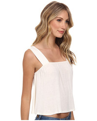 BCBGeneration Cropped Flare Top