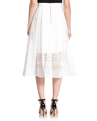 Nicholas Geometric Lace A Line Skirt | Where to buy & how to wear